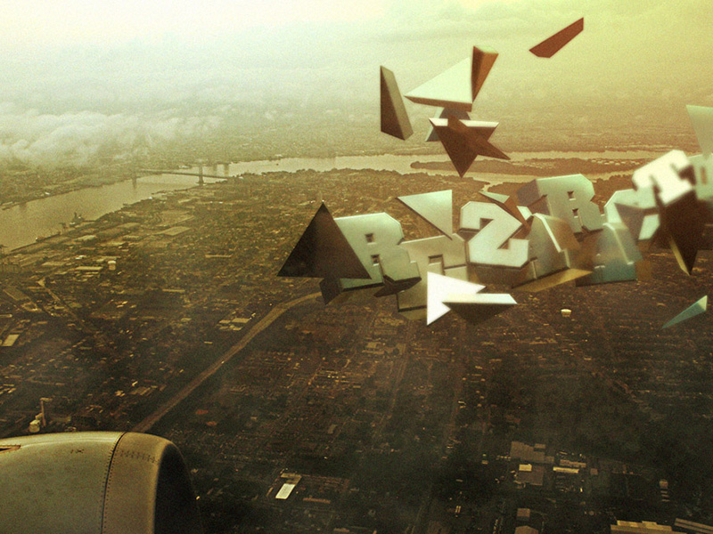 3D Typography Flight