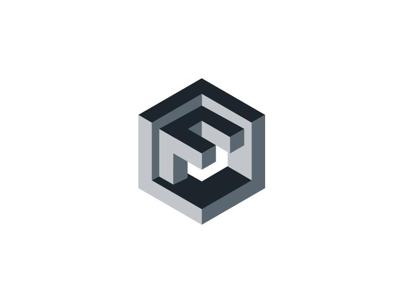 Logo Isometric F
