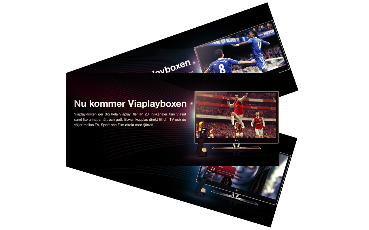Viaplay Banner design