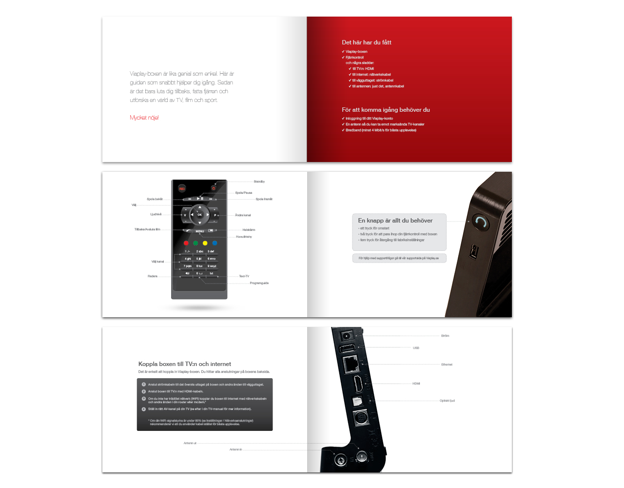 Viaplay Brochure Design