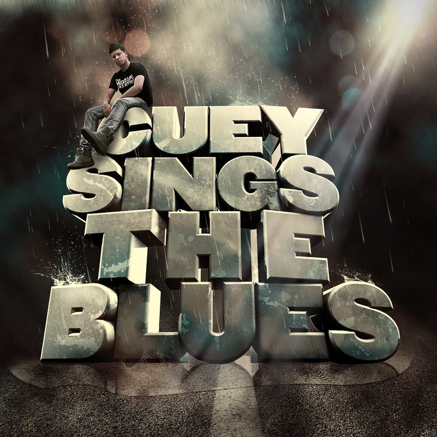 album cover design for Cuey. 3D typography