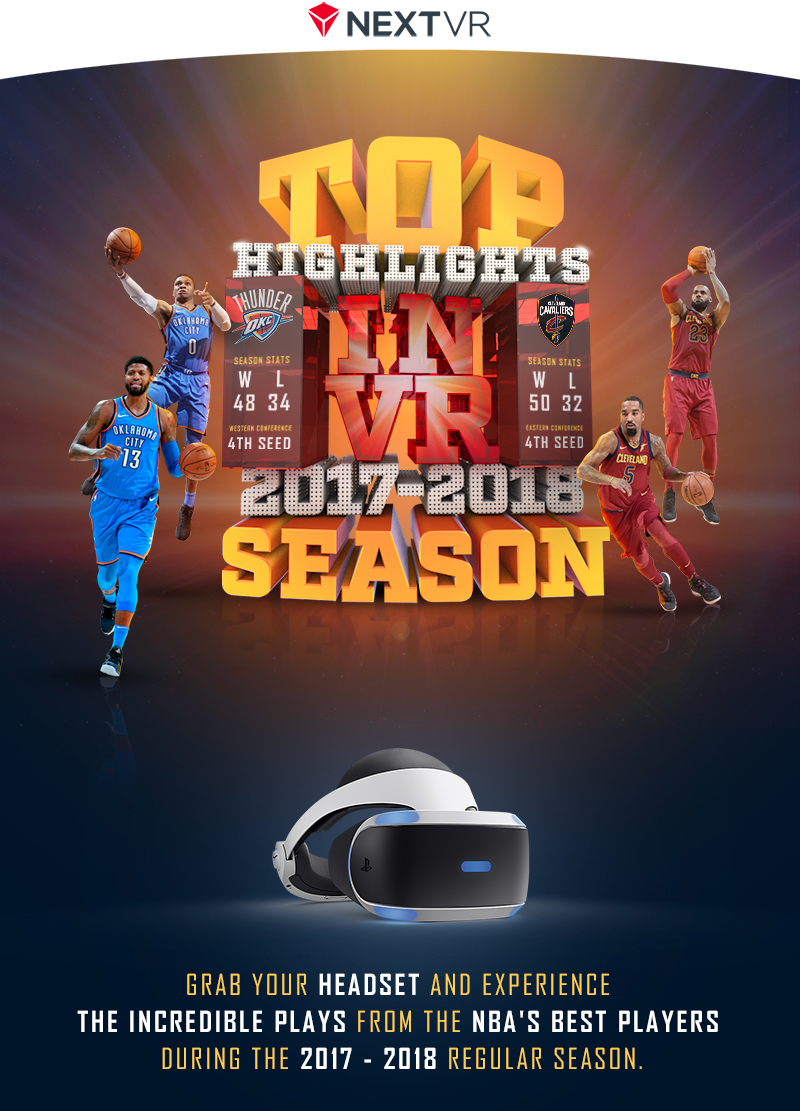NBA VR 3D typography