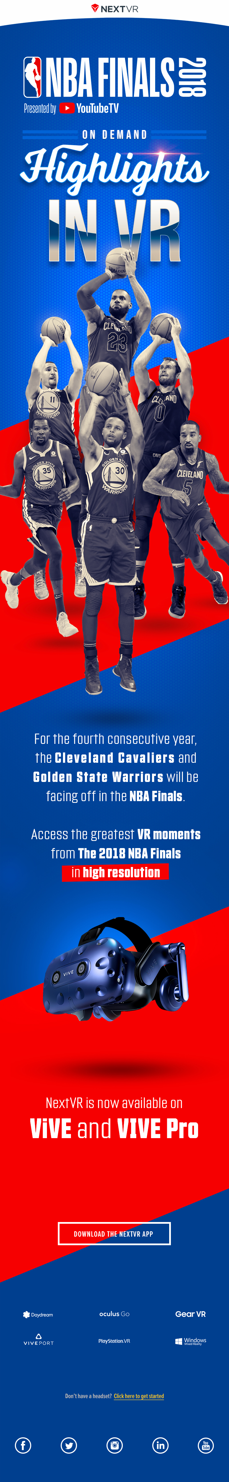 NBA VR Finals Graphic Email