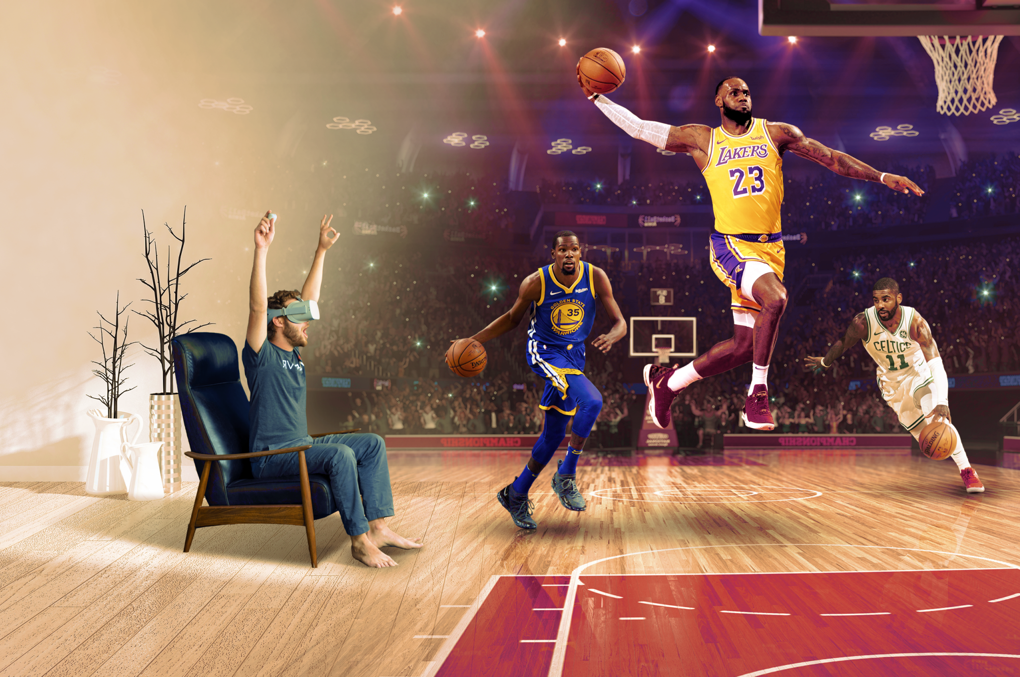 NBA in VR promo graphic