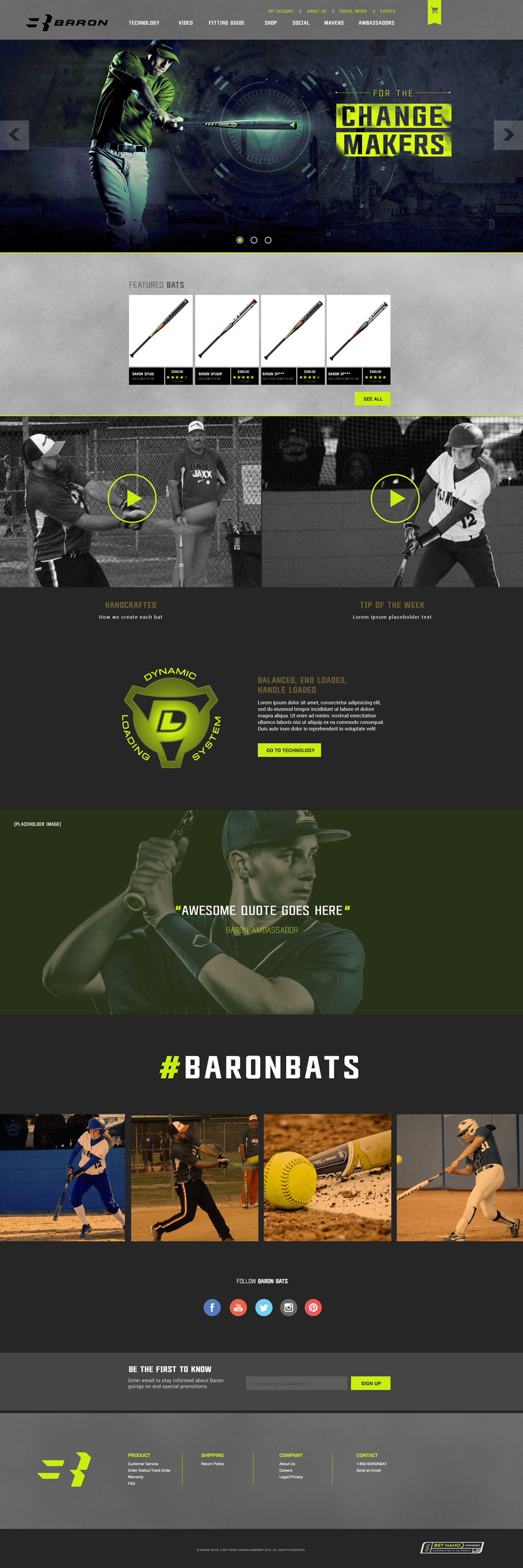 Baron Softball Website Design