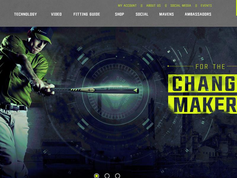 Softball Website Design
