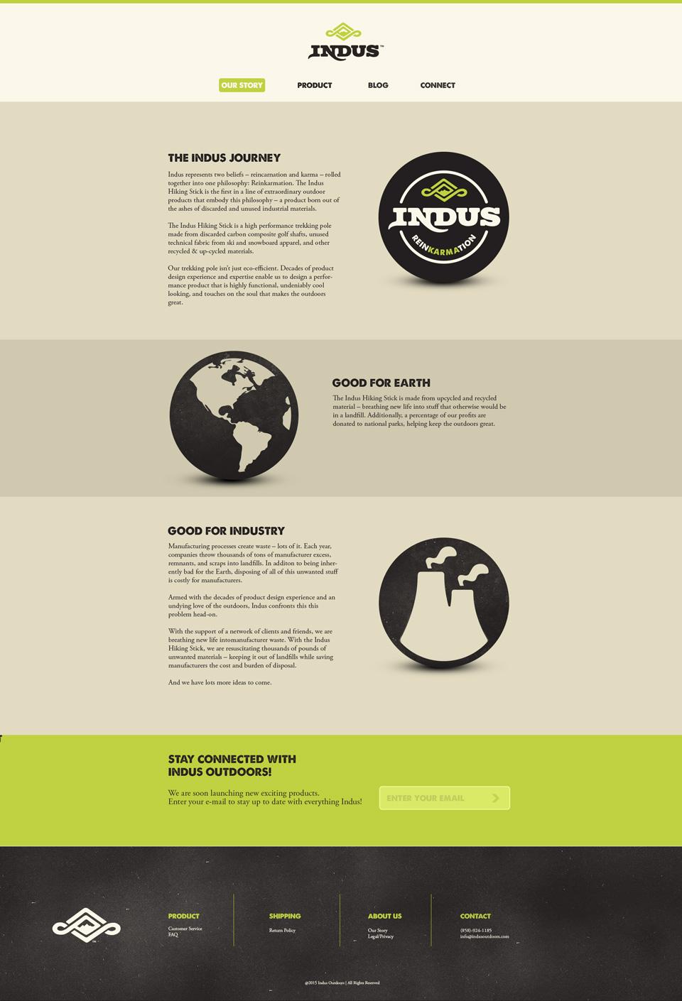 indus website design