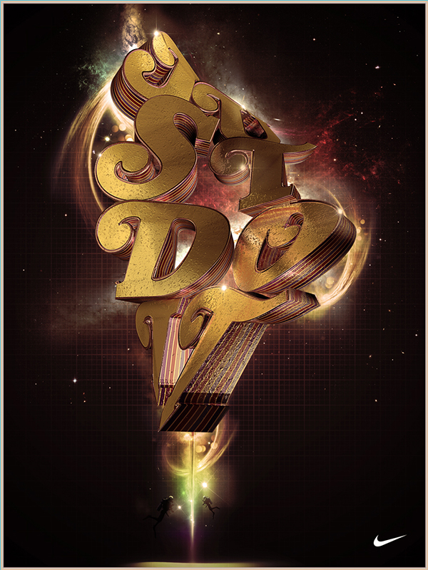 3D typography Nike poster Just Do It