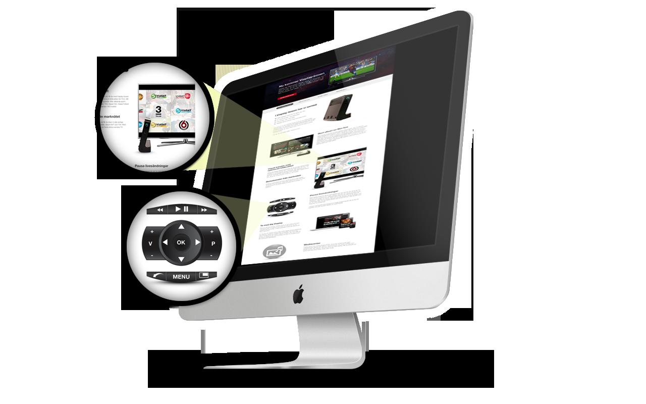 Viaplay website design