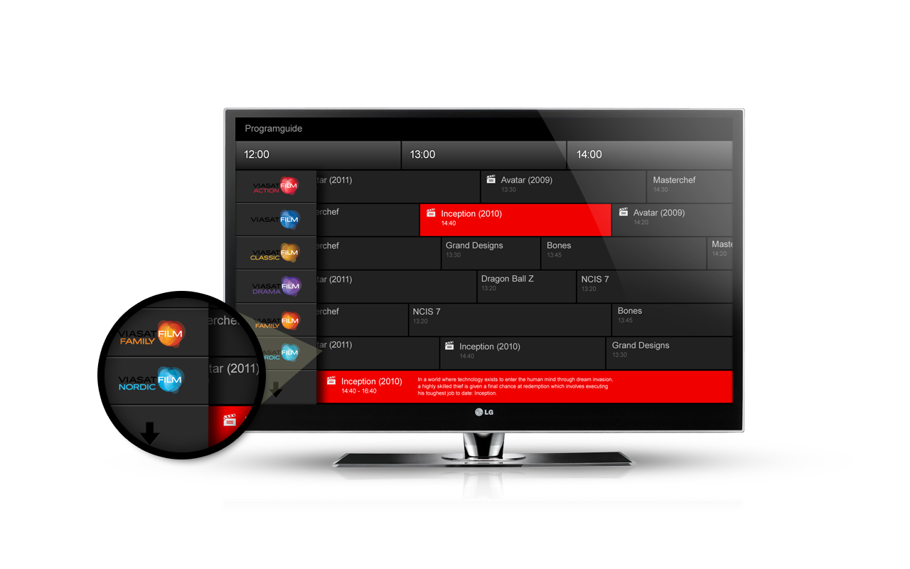 Viaplay TV interface