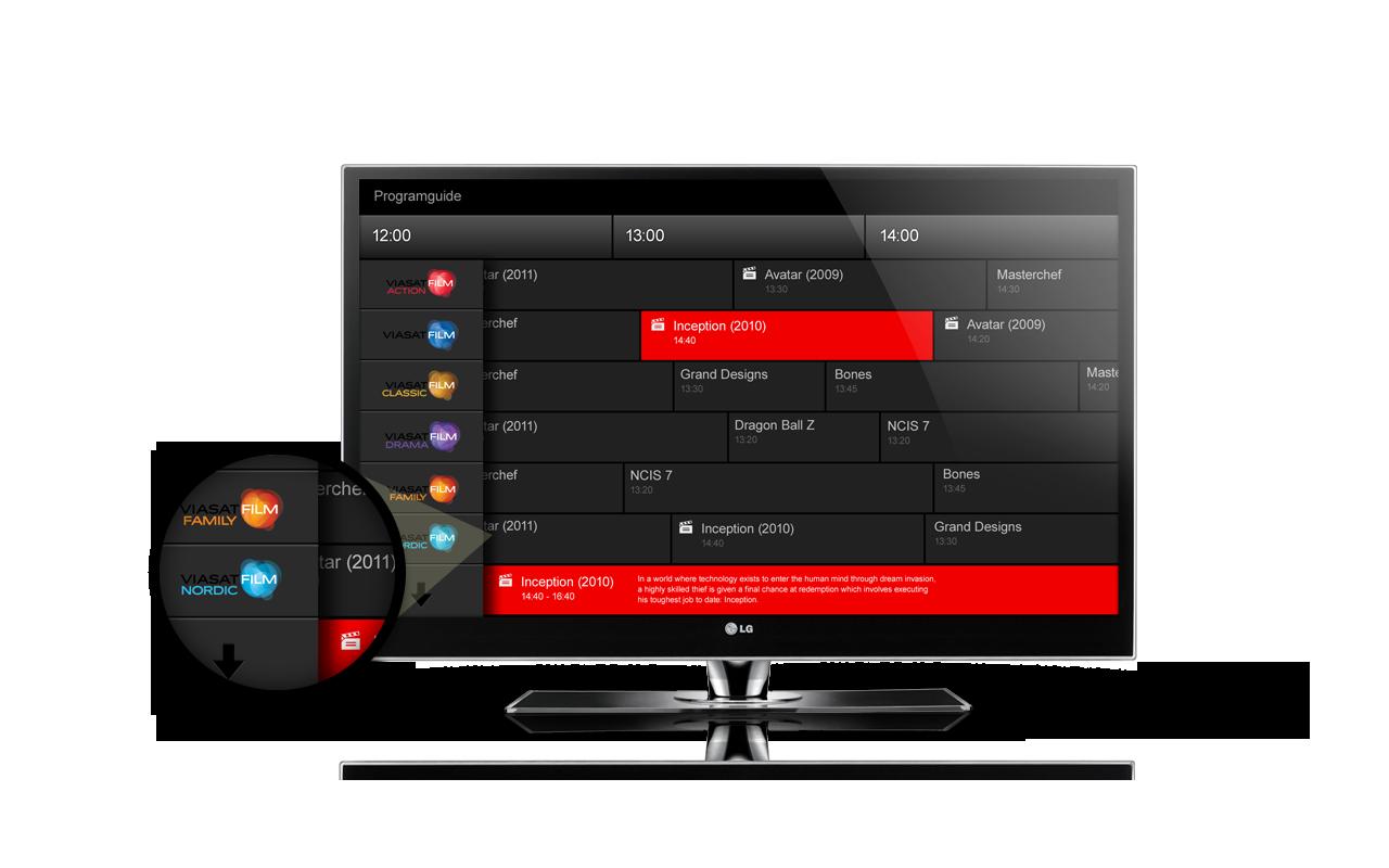 Viaplay TV interface