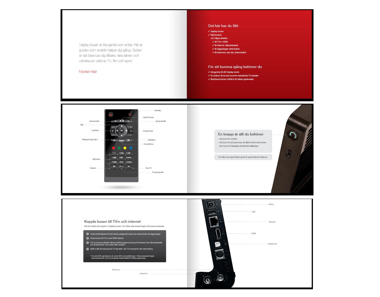 Viaplay Brochure Design